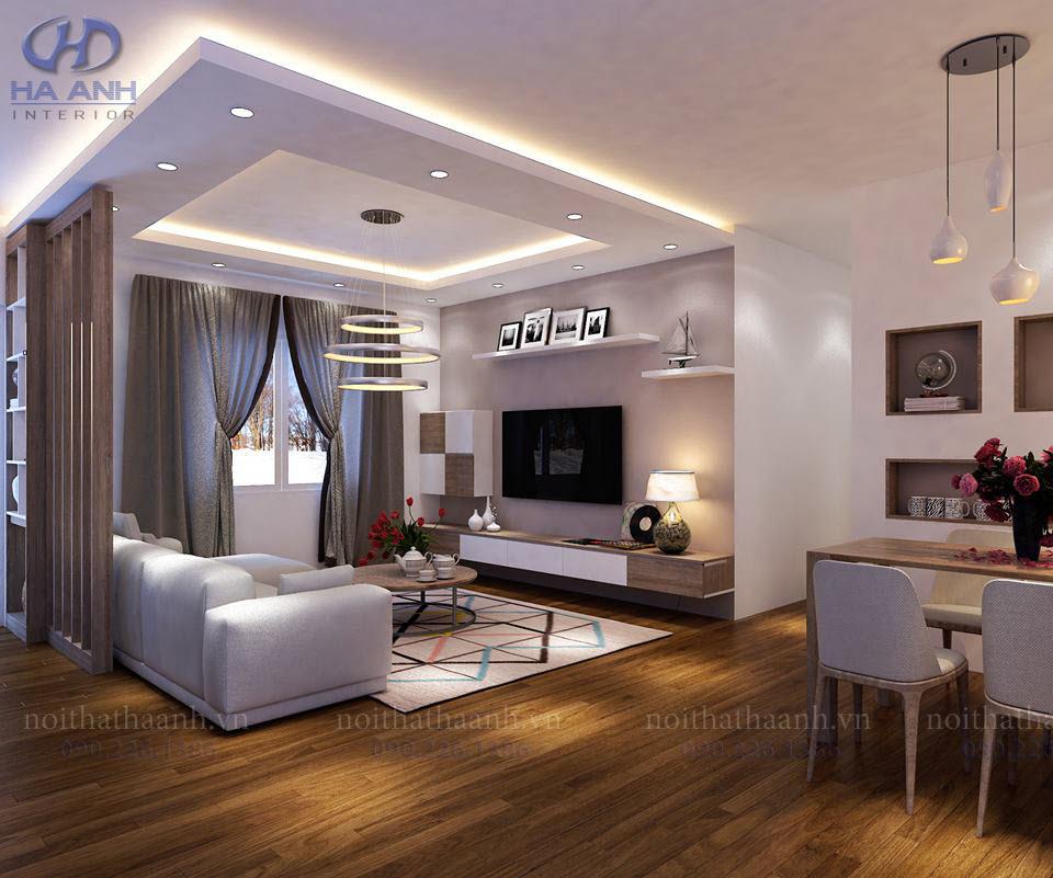 Phòng khách laminate HA-8107