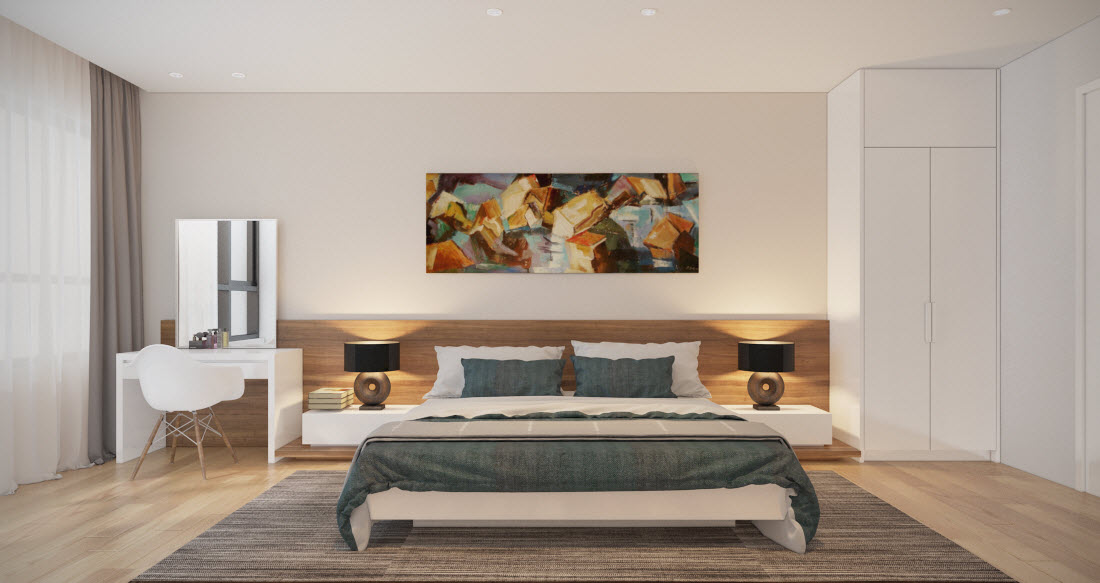 Phòng ngủ laminate HA-8013