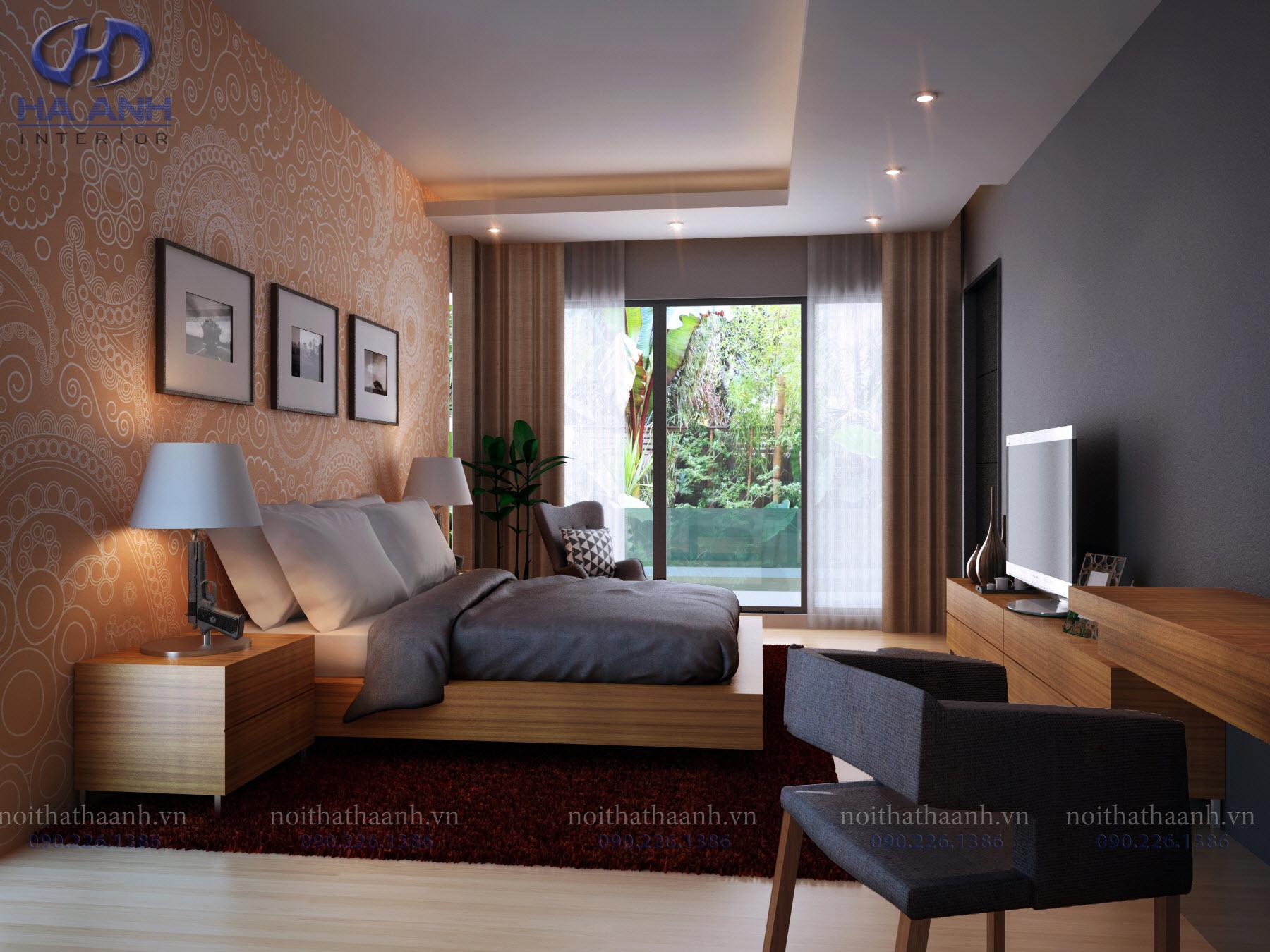 Phòng ngủ laminate HA-8014