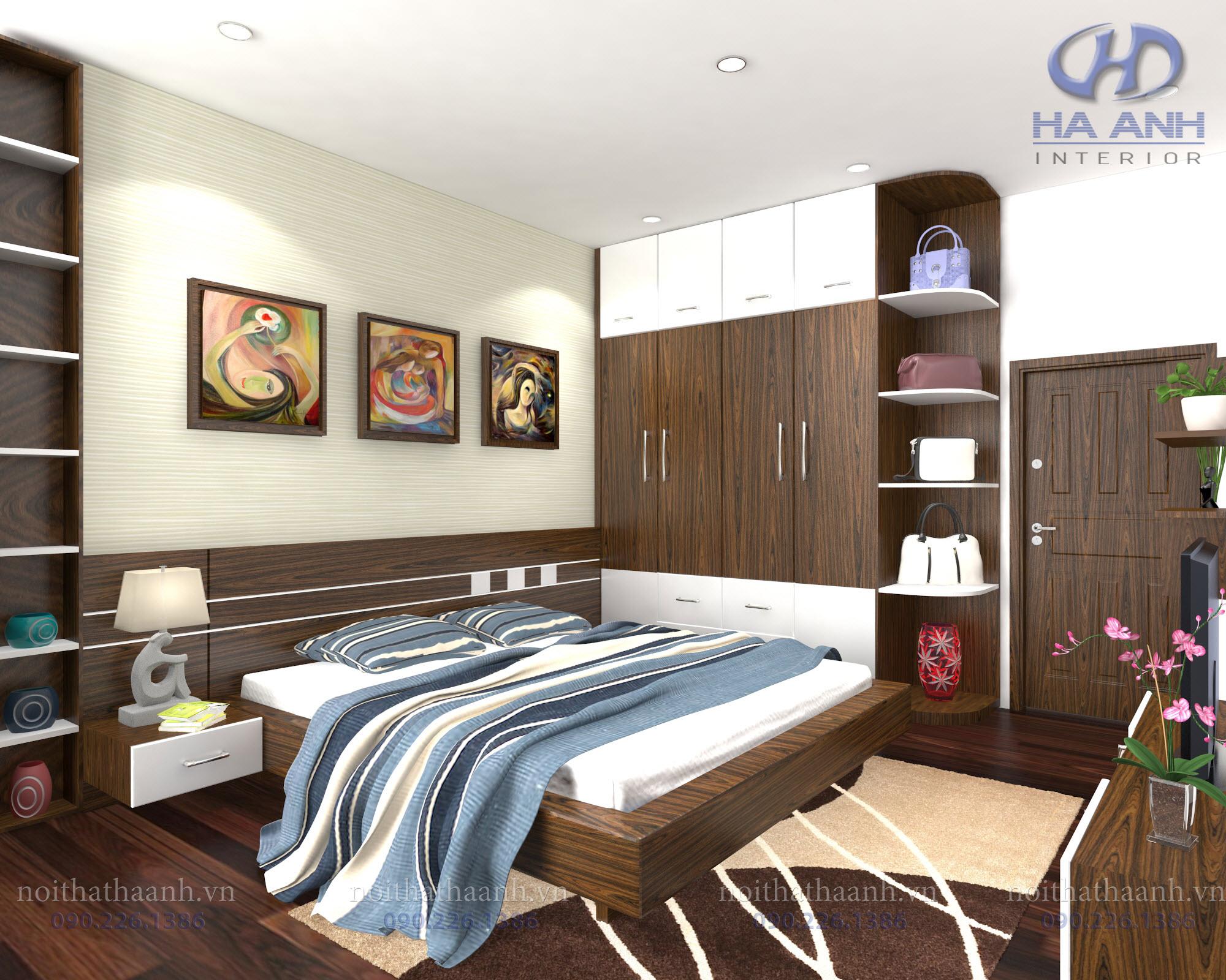 Phòng ngủ laminate HA-8016