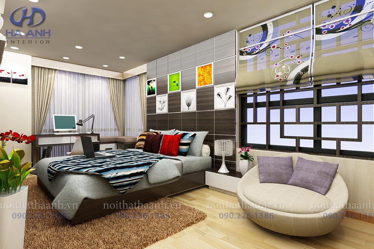 Phòng ngủ laminate HA-8017-3