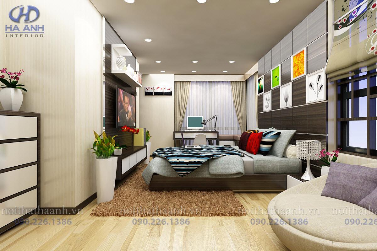 Phòng ngủ laminate HA-8017