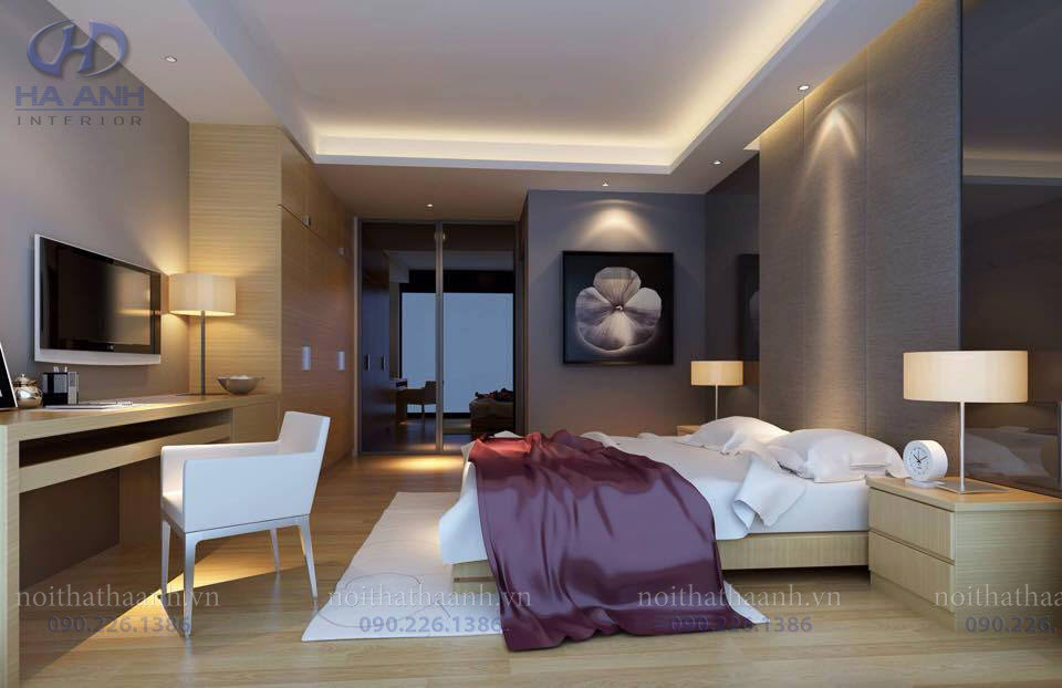 Phòng ngủ laminate HA-8022