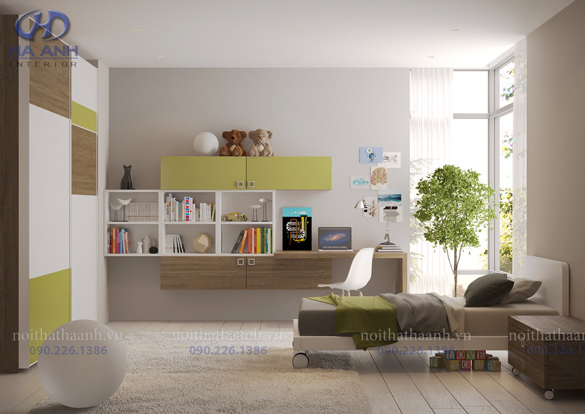 Phòng ngủ laminate HA-8033