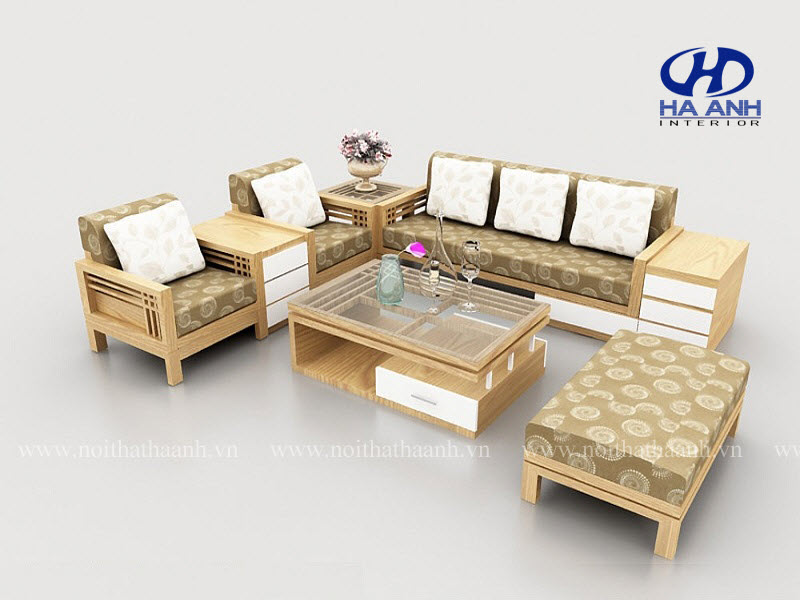 Sofa gỗ HA-50217-1