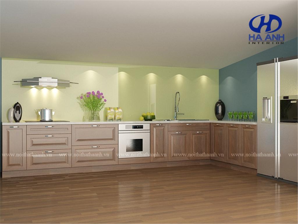 Tủ bếp gỗ tự nhiên niềm tin cho mỗi gia đình