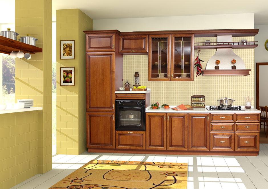 Tủ bếp gỗ tự nhiên HA-30539