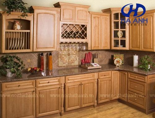 Tủ bếp gỗ tự nhiên HA-30541