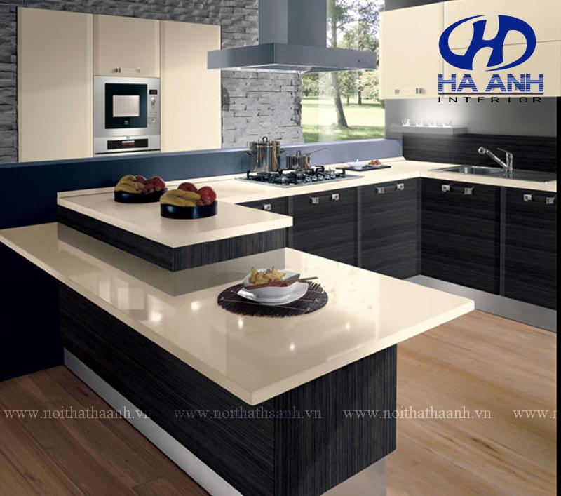 Làm đẹp không gian với tủ bếp Laminate đơn giản mà sang trọng