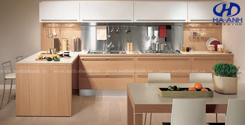 Tủ bếp chất liệu laminate khác với tủ bếp chất liệu khác như thế nào