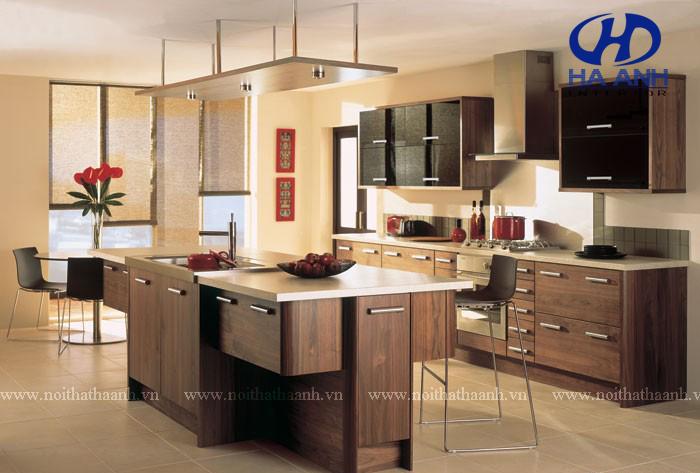 Tủ bếp veneer HA-30217-1