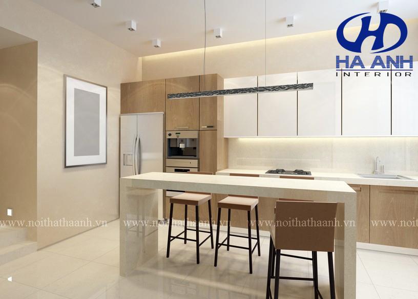 Tủ bếp veneer HA-30219-1