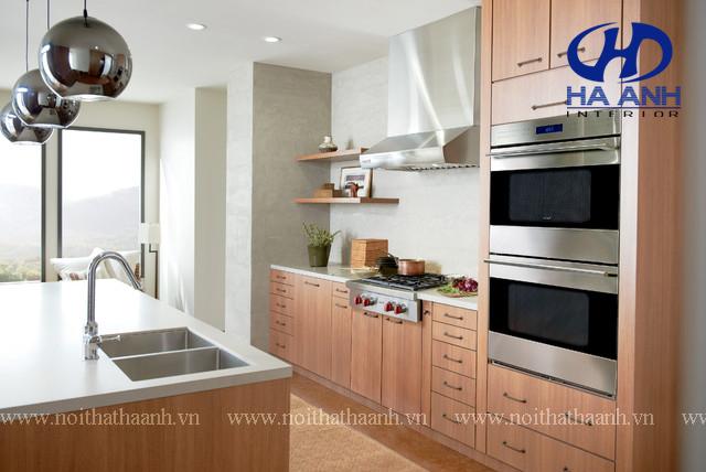 Tủ bếp veneer HA-30222