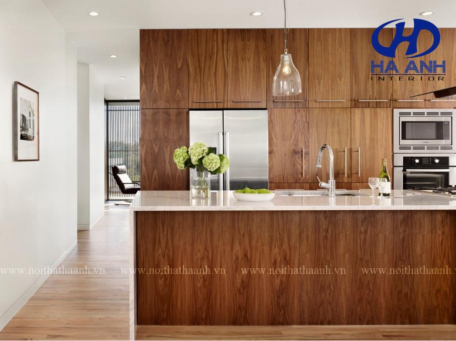 Tủ bếp veneer HA-30224