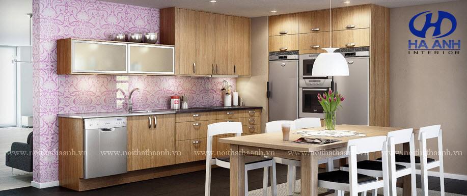 Tủ bếp veneer HA-30228