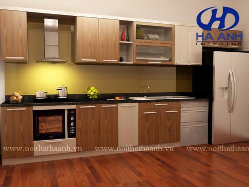 Tủ bếp veneer HA-30229