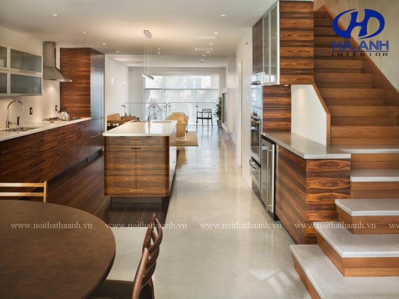 Tủ bếp veneer HA-30231