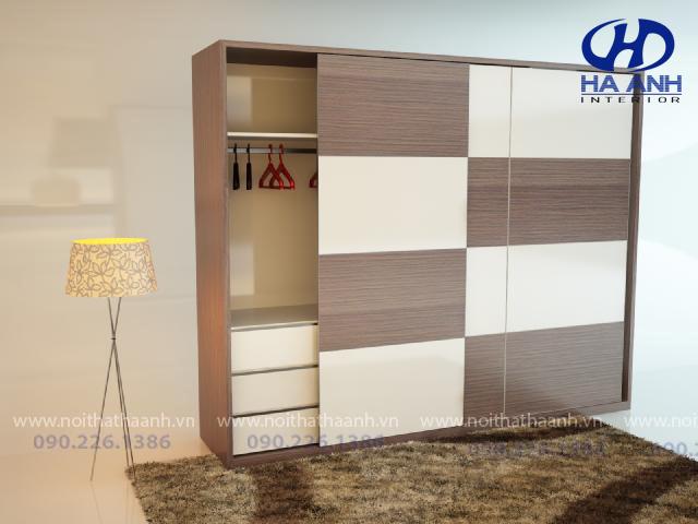 Tủ áo laminate HA -8209-1