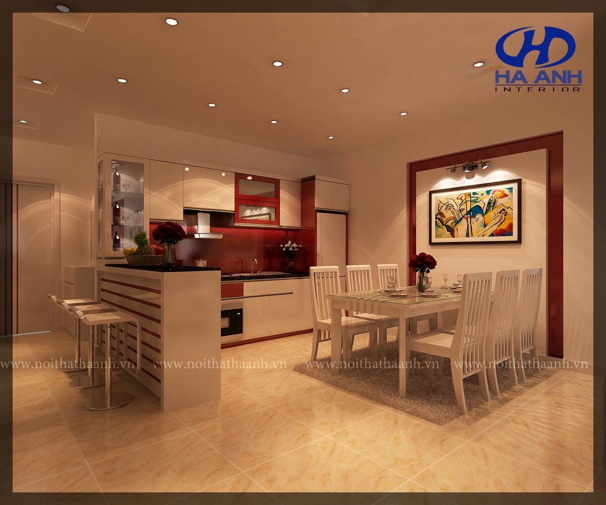 Tủ bếp công nghiệp HA-30111-1