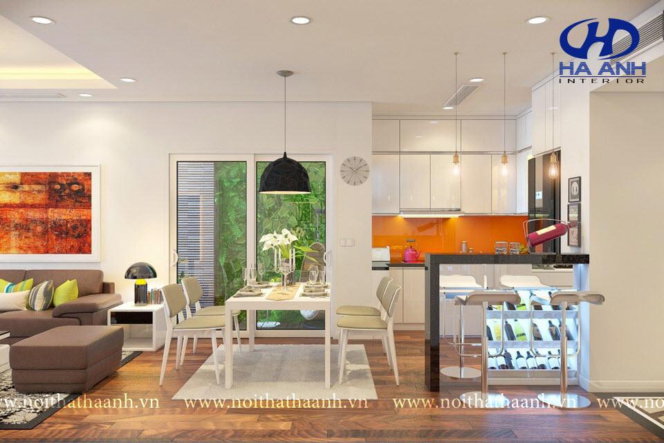 Tủ bếp công nghiệp HA-30113-1
