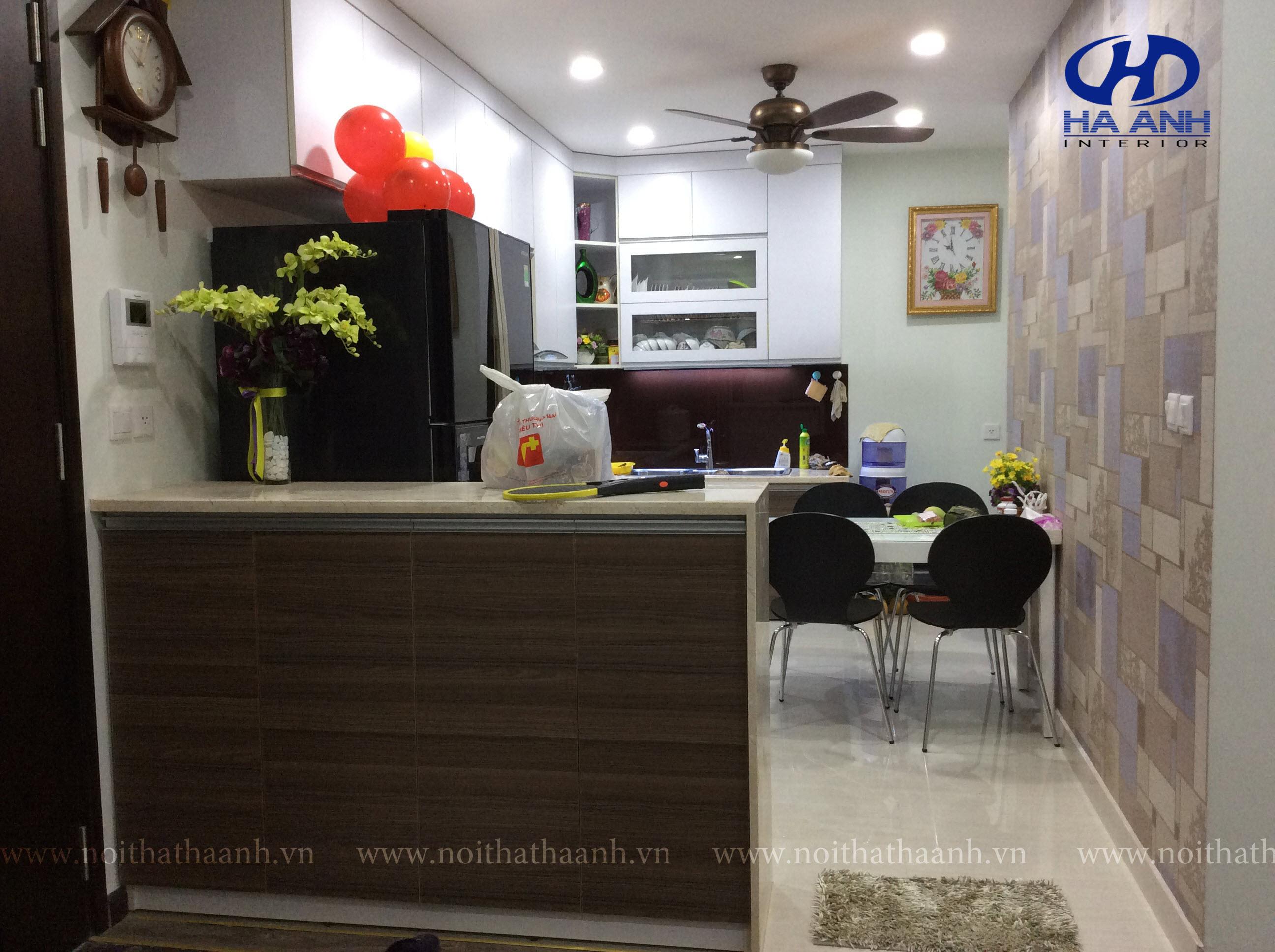 Tủ bếp laminate HA 30413