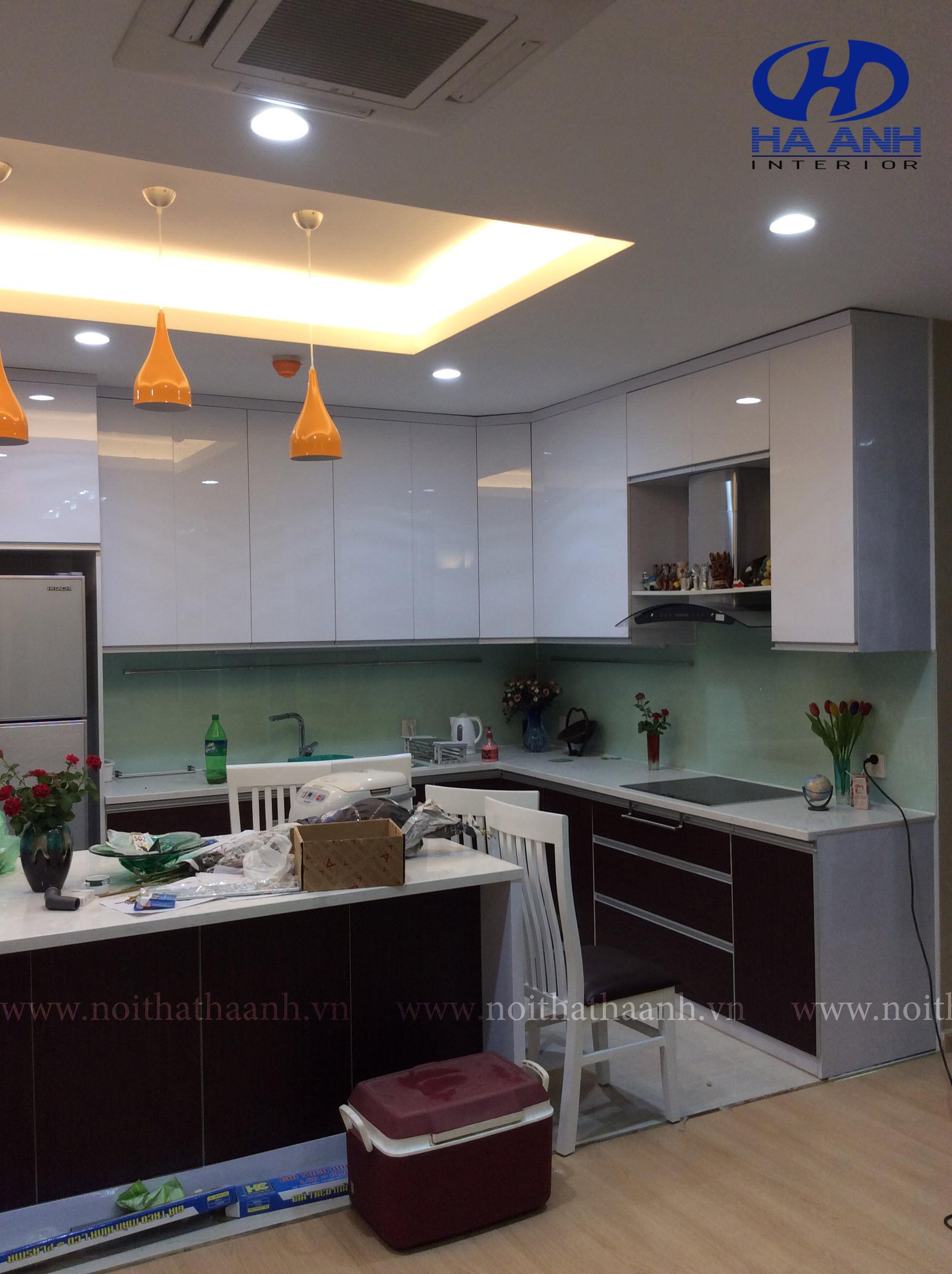 Tủ bếp laminate HA 30414