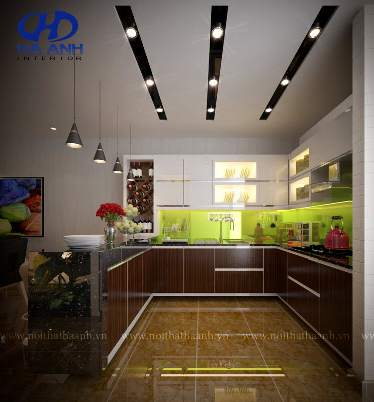 Tủ bếp laminate HA 30415