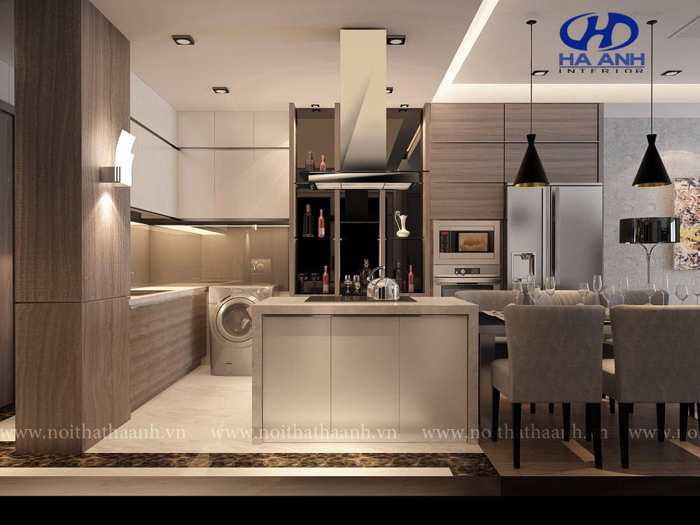 Tủ bếp laminate HA 30416-1