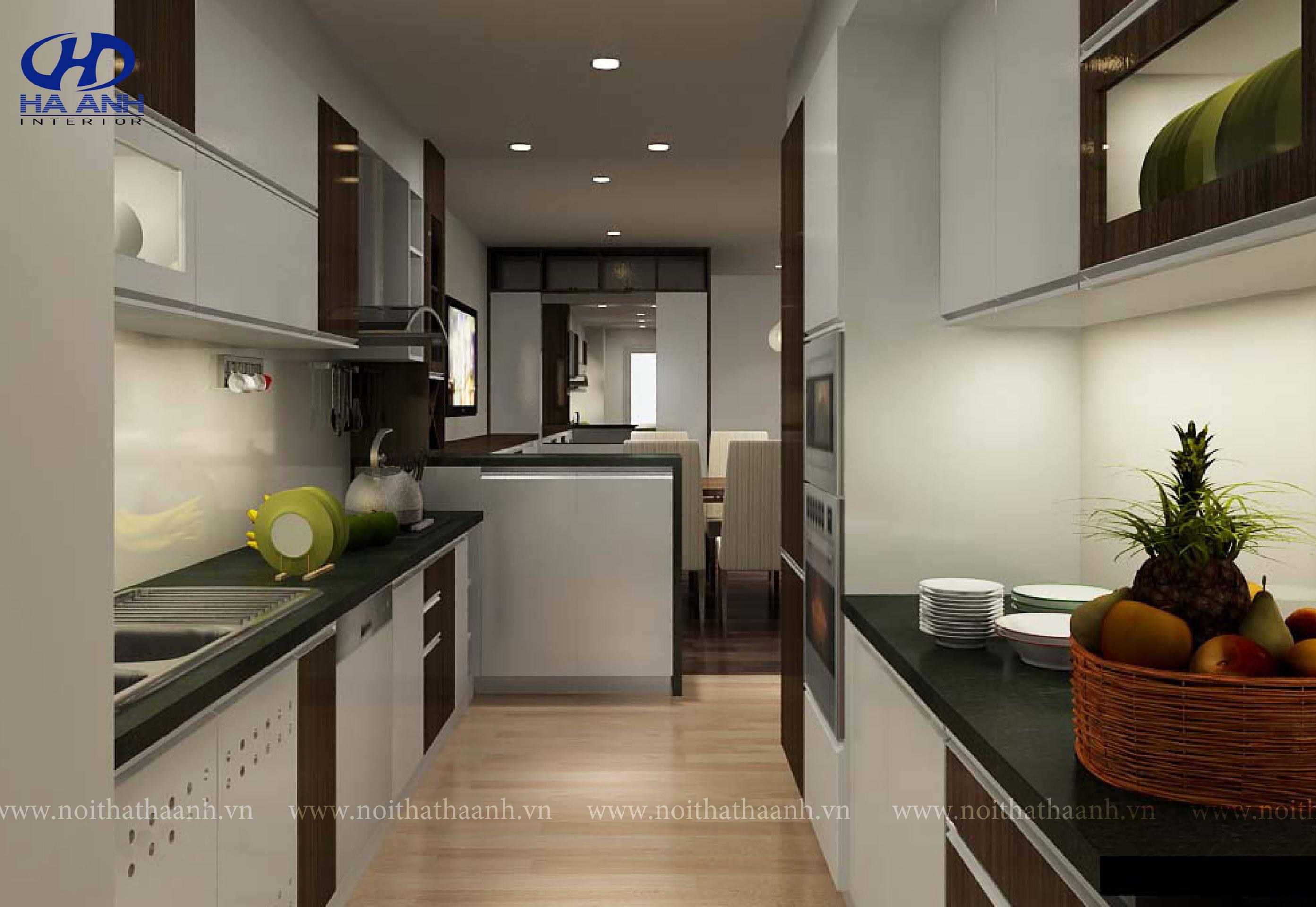 Tủ bếp veneer HA 30212-1