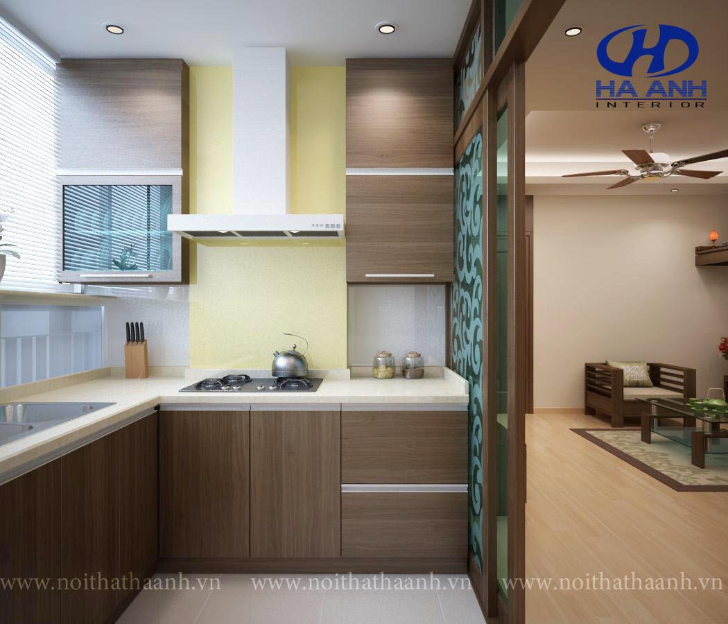 Tủ bếp veneer HA 30215-1