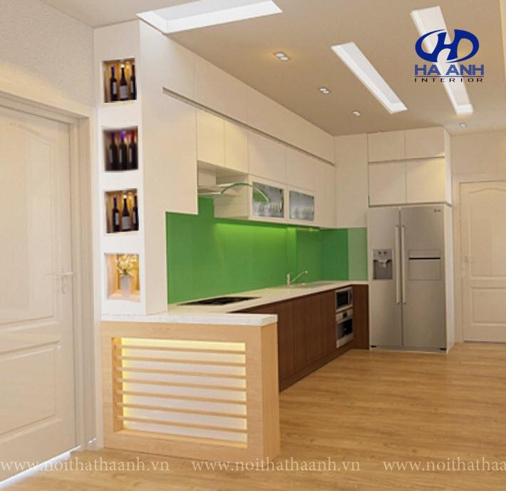 Tủ bếp veneer HA 30216-1