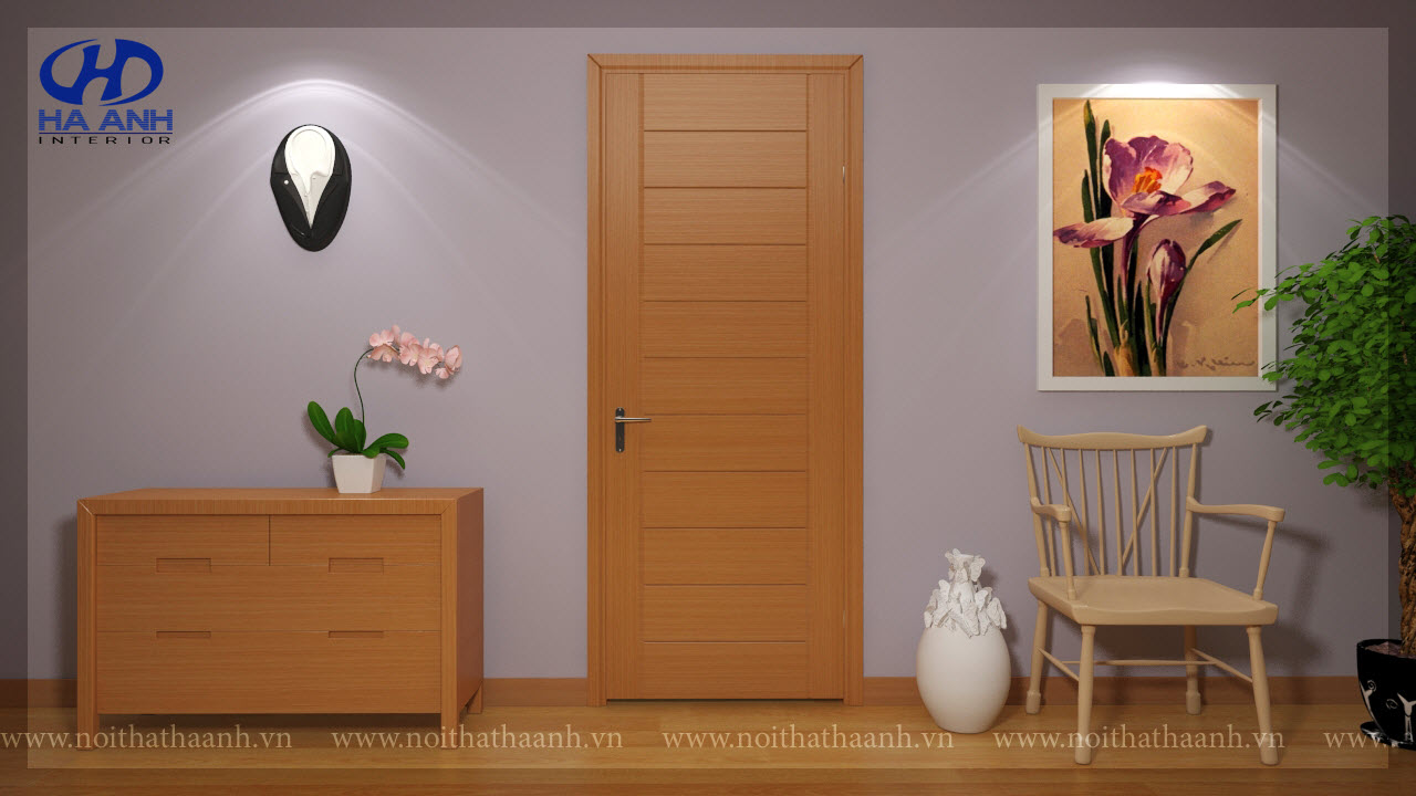 Cửa gỗ tự nhiên HA 10311