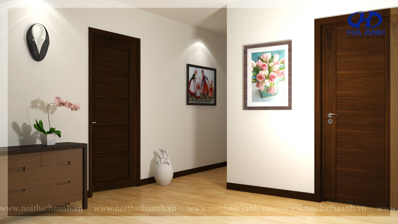 Cửa gỗ tự nhiên HA 10316-1