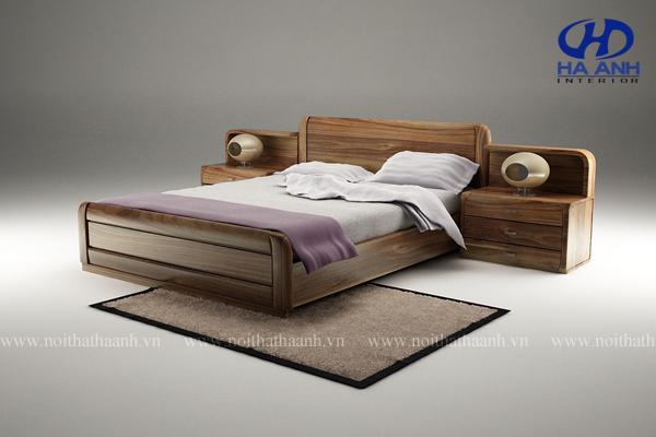 Giường ngủ gỗ tự nhiên Óc Chó HAT-0223
