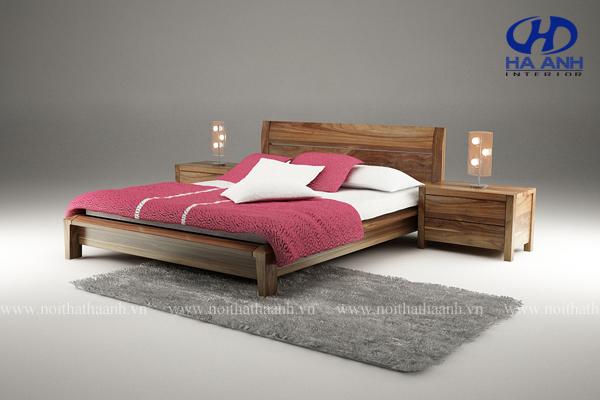 Giường ngủ gỗ tự nhiên Óc Chó HAT-0225-1