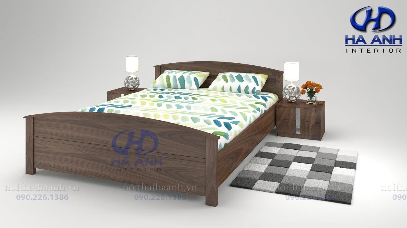 Giường gỗ Óc chó tự nhiên HAT-0227