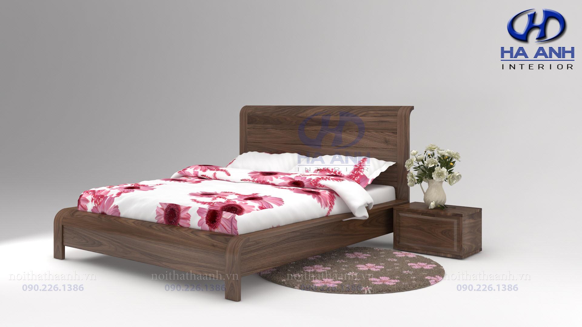 Giường gỗ Óc chó tự nhiên HAT-0229-1
