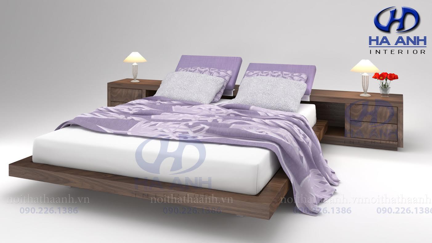 Giường gỗ Óc chó tự nhiên HAT-0230-1