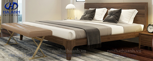 Giường gỗ Óc chó tự nhiên HAT-0231