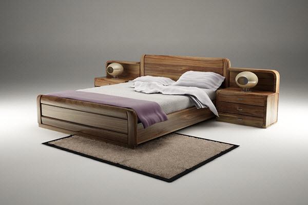 Giường ngủ gỗ óc chó Hà Anh