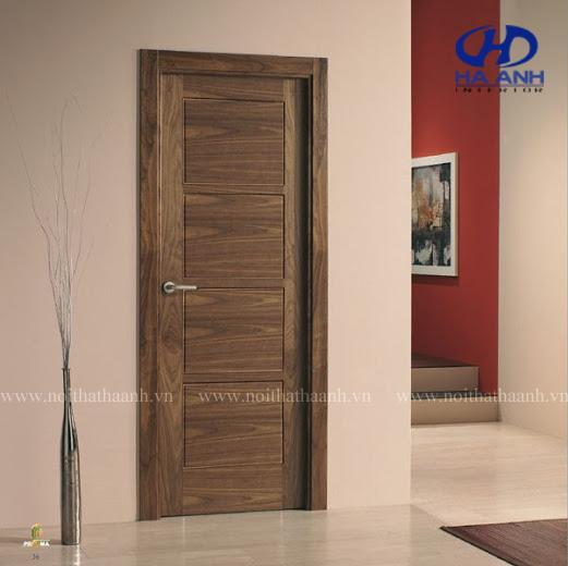 Cửa gỗ veneer óc chó HAV-0111-1