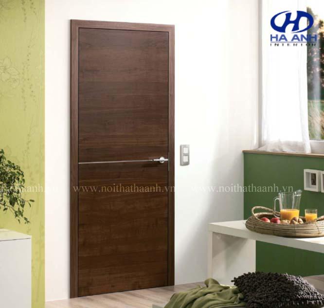 Cửa gỗ veneer óc chó HAV-0114-1