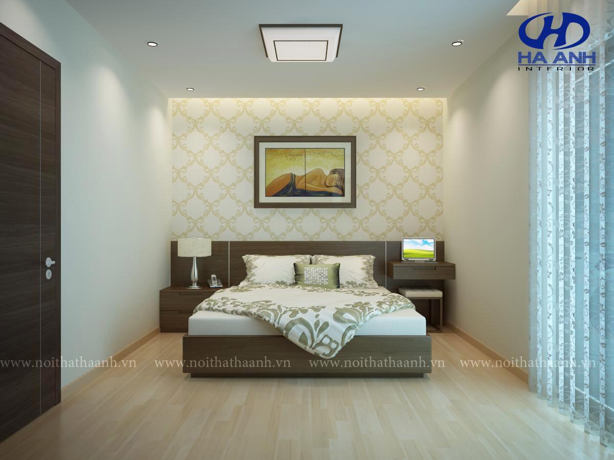 Phòng ngủ veneer óc chó HAV-0211-1