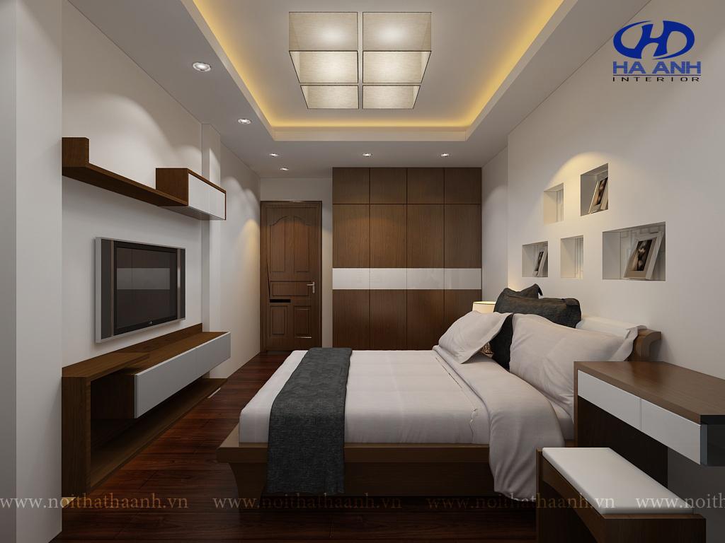 Phòng ngủ veneer óc chó HAV-0212-1