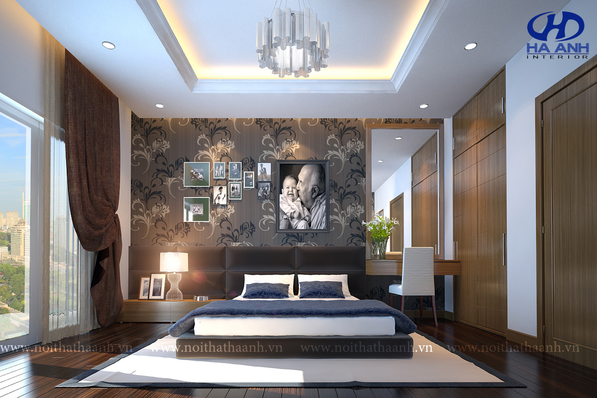 Phòng ngủ veneer óc chó HAV-0213-1