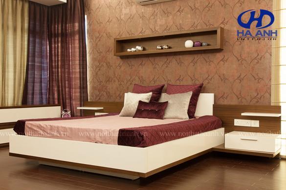 Phòng ngủ veneer óc chó HAV-0214-1