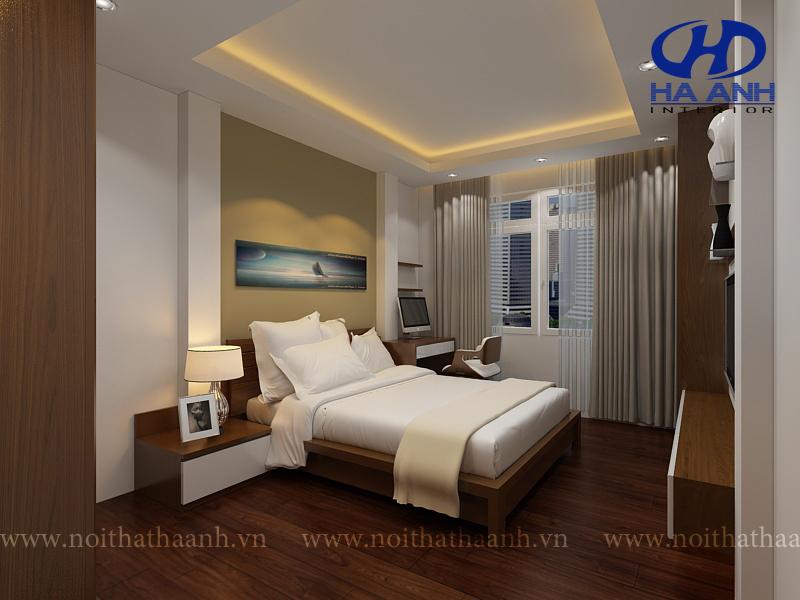 Phòng ngủ veneer óc chó HAV-0215-1