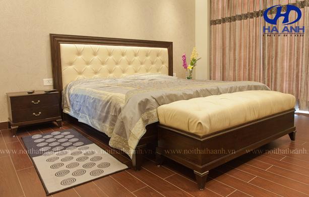 Phòng ngủ gỗ tự nhiên óc chó HAT-0211-1