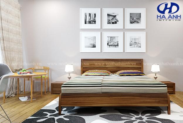 Phòng ngủ gỗ óc chó sang trọng chỉ có tại nội thất hà anh