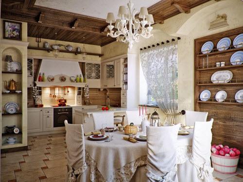 Một số mẫu nhà bếp phong cách đồng quê đầy lôi cuốn